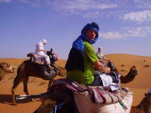 Nicolas dans le désert