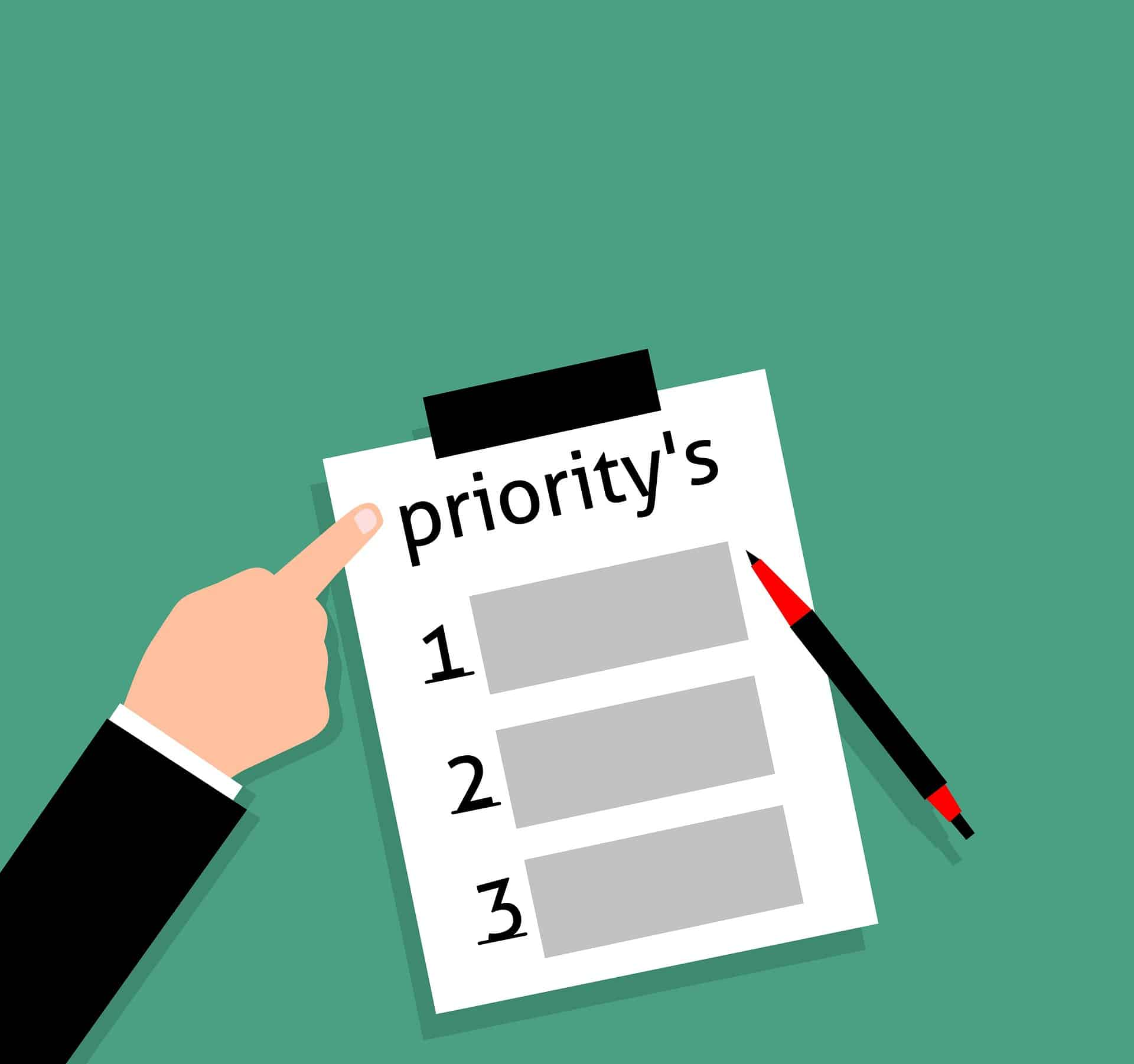 Les 3 priorités des leaders…